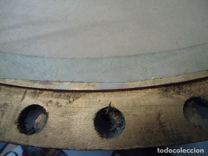 Arte: magnifico oleo sobre tabla FLORES firmado E. REIRIZ 1972 ovalado enmarcado mide 72x57cm. marco oro - Foto 13 - 181613496