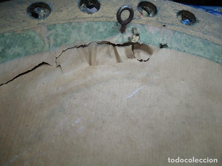 Arte: magnifico oleo sobre tabla FLORES firmado E. REIRIZ 1972 ovalado enmarcado mide 72x57cm. marco oro - Foto 14 - 181613496