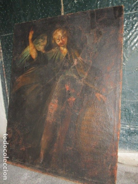 SAN RAFAEL OLEO PINTURA ANTIGUA BARROCO S XVIII CUSTODIO DE CORDOBA CIERTO ESTILO DE GOYA (Arte - Pintura - Pintura al Óleo Antigua siglo XVII)