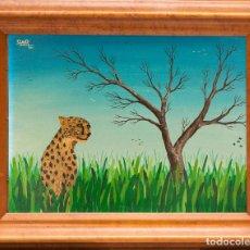 Arte: SALVADOR DE VILLAR PUENTE - PINTURA NAIF - 1980. Lote 181764210