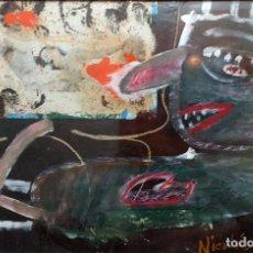 Arte: NICOLAS LARA - TECNICA MIXTA - ARTE CUBANO. Lote 181765392