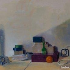 Arte: CAJAS Y PELOTA. OLEO SOBRE CARTÓN, 72X51CM, FIRMADO DE PEP ENCINAS. Lote 181768243