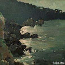 Arte: RINCÓN DE COSTA. CONTRALUZ (MALLORCA) POR JOSÉ FERRÉ REVASCALL (VILAPLANA 1907-REUS 2001). Lote 181829927