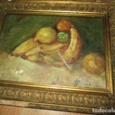 Arte: ANTIGUA PINTURA OLEO TABLA BODEGON FIRMADO ILEGIBLE. Lote 136244914