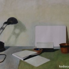 Arte: COMPOSICIÓN CON LÁMPARA. OLEO SOBRE CARTÓN COUCHÉ, 66X48CM. FIRMADO, DE PEP ENCINAS.. Lote 181908125