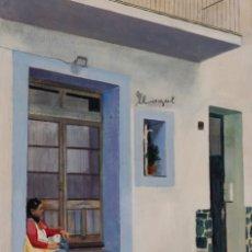 Arte: BETSABÉ EN EL LLAGUT, CADAQUÉS. OLEO SOBRE MADERA, 40X28CM, FIRMADO DE PEP ENCINAS. Lote 181911531