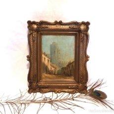 Arte: PINTURA LA ROCHELLE, PINTURA ÓLEO XIX, PINTURA IMPRESIONISTA XIX, PINTURA ENMARCADA, ÓLEO SOBRE TELA. Lote 181934292