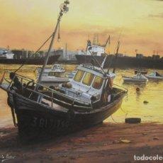 Arte: ATARDECER MAREA BAJA (RIA DE AVILÉS). Lote 181942111