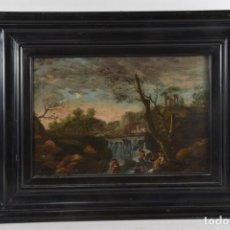 Arte: ESCUELA FLAMENCA DEL SIGLO XVIII ESCENA CAMPESTRE. Lote 181976173