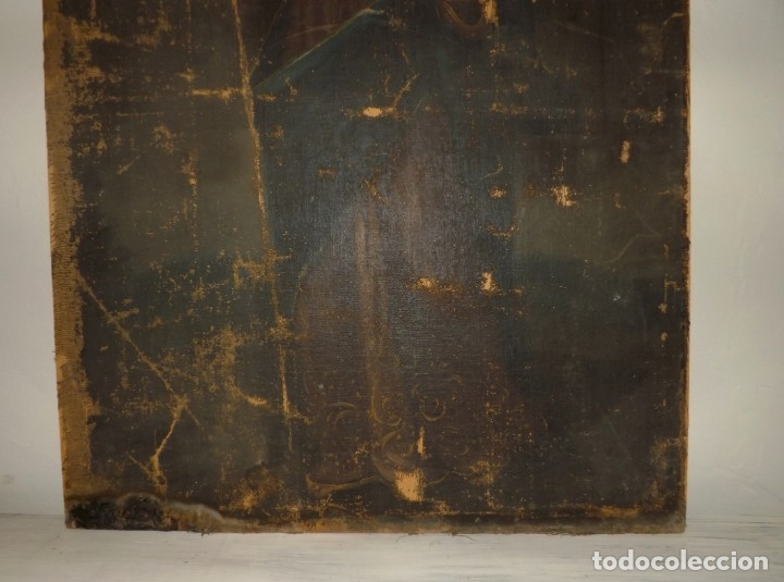 Arte: SALVATOR MUNDI CUADRO RETABLO DE GRAN TAMAÑO S. XV-XVII - Foto 15 - 181976396