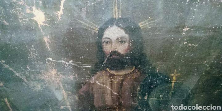 SALVATOR MUNDI CUADRO RETABLO DE GRAN TAMAÑO S. XV-XVII (Arte - Pintura - Pintura al Óleo Antigua siglo XV)