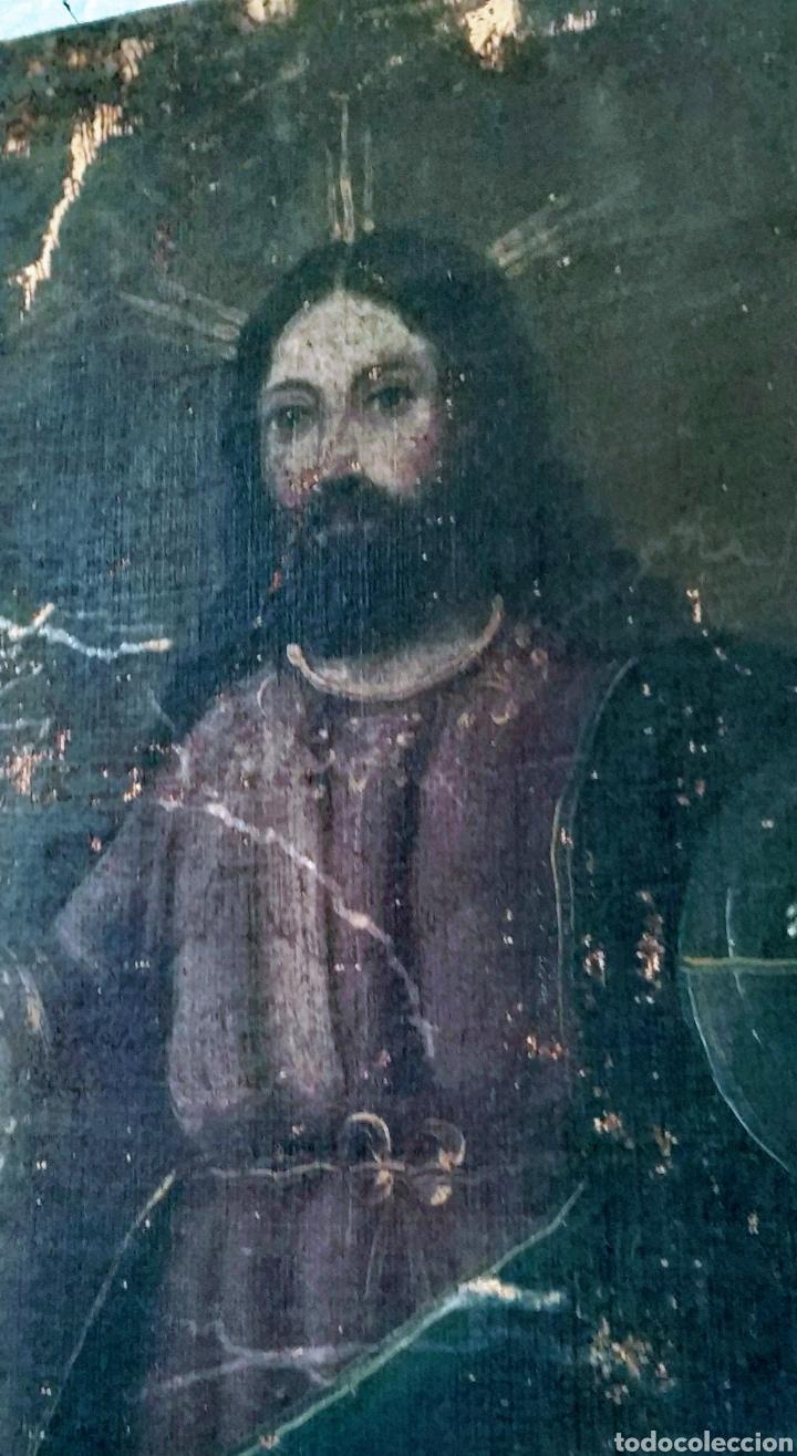 Arte: SALVATOR MUNDI CUADRO RETABLO DE GRAN TAMAÑO S. XV-XVII - Foto 6 - 181976396