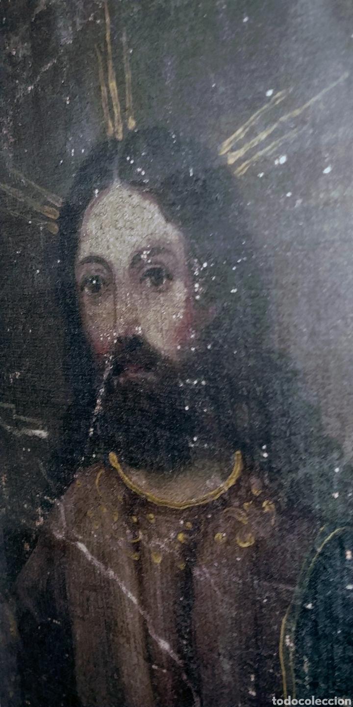 Arte: SALVATOR MUNDI CUADRO RETABLO DE GRAN TAMAÑO S. XV-XVII - Foto 7 - 181976396