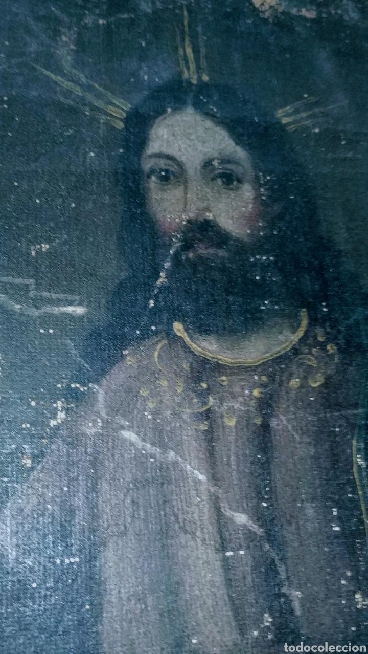 Arte: SALVATOR MUNDI CUADRO RETABLO DE GRAN TAMAÑO S. XV-XVII - Foto 8 - 181976396