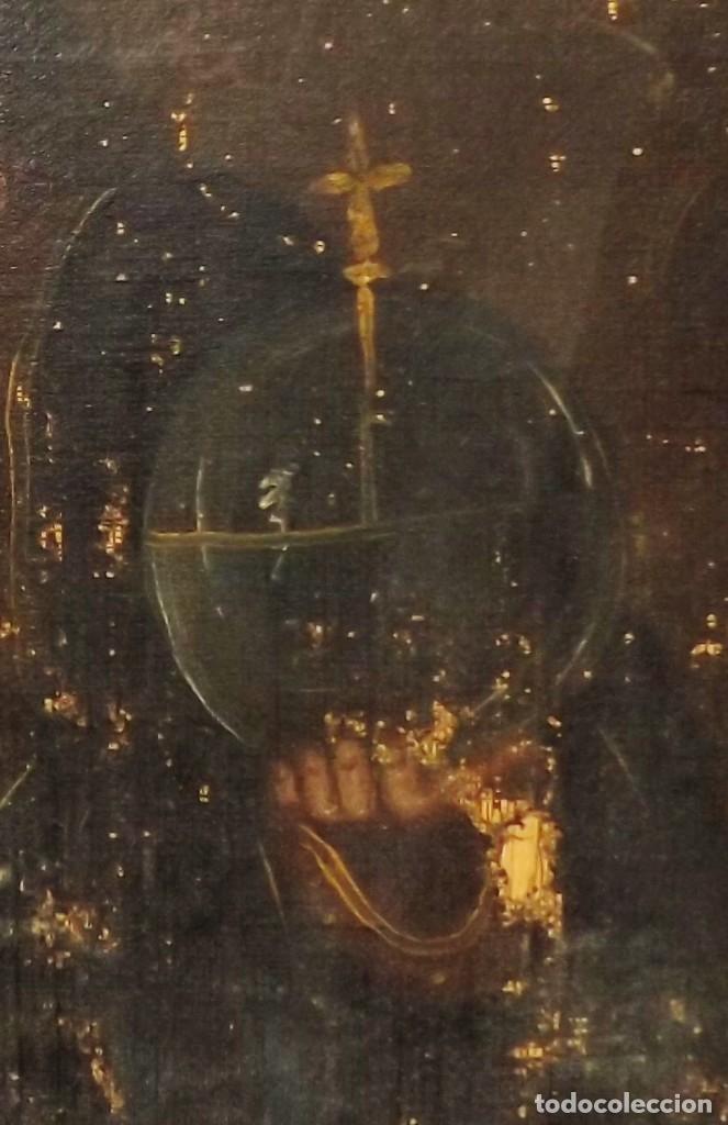 Arte: SALVATOR MUNDI CUADRO RETABLO DE GRAN TAMAÑO S. XV-XVII - Foto 9 - 181976396