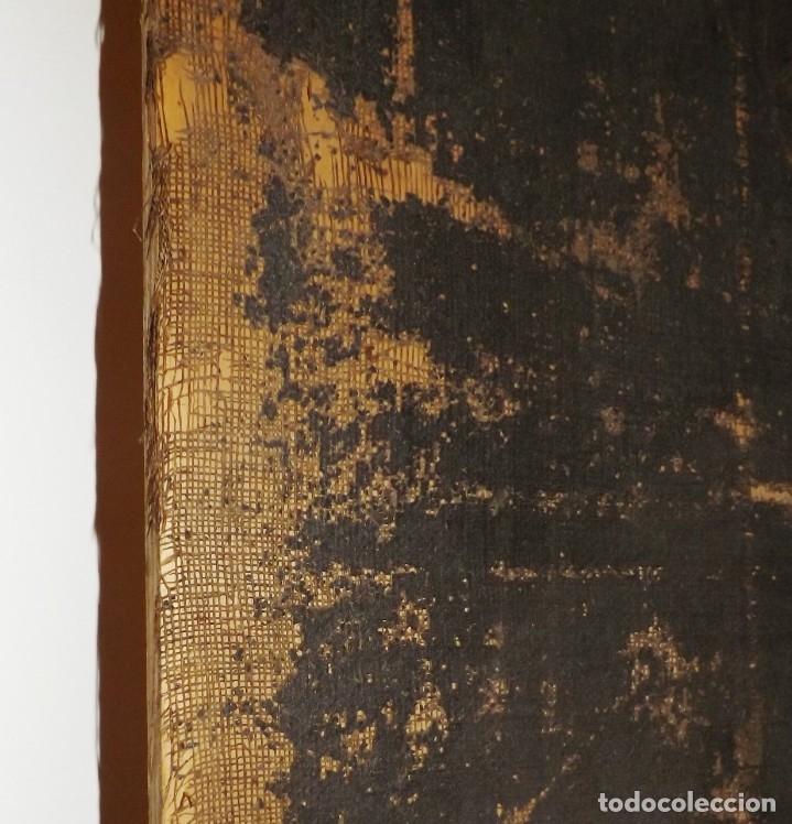 Arte: SALVATOR MUNDI CUADRO RETABLO DE GRAN TAMAÑO S. XV-XVII - Foto 10 - 181976396