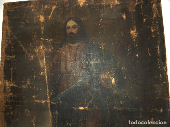 Arte: SALVATOR MUNDI CUADRO RETABLO DE GRAN TAMAÑO S. XV-XVII - Foto 16 - 181976396