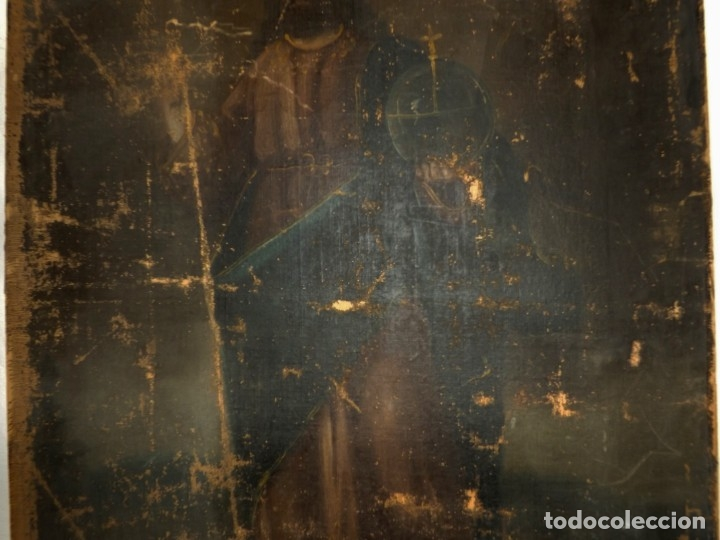 Arte: SALVATOR MUNDI CUADRO RETABLO DE GRAN TAMAÑO S. XV-XVII - Foto 17 - 181976396