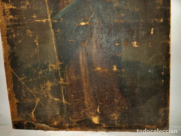 Arte: SALVATOR MUNDI CUADRO RETABLO DE GRAN TAMAÑO S. XV-XVII - Foto 18 - 181976396