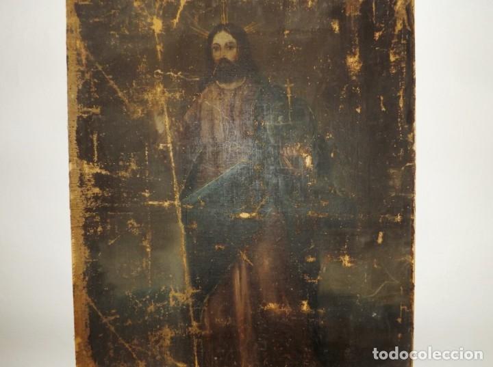 Arte: SALVATOR MUNDI CUADRO RETABLO DE GRAN TAMAÑO S. XV-XVII - Foto 20 - 181976396