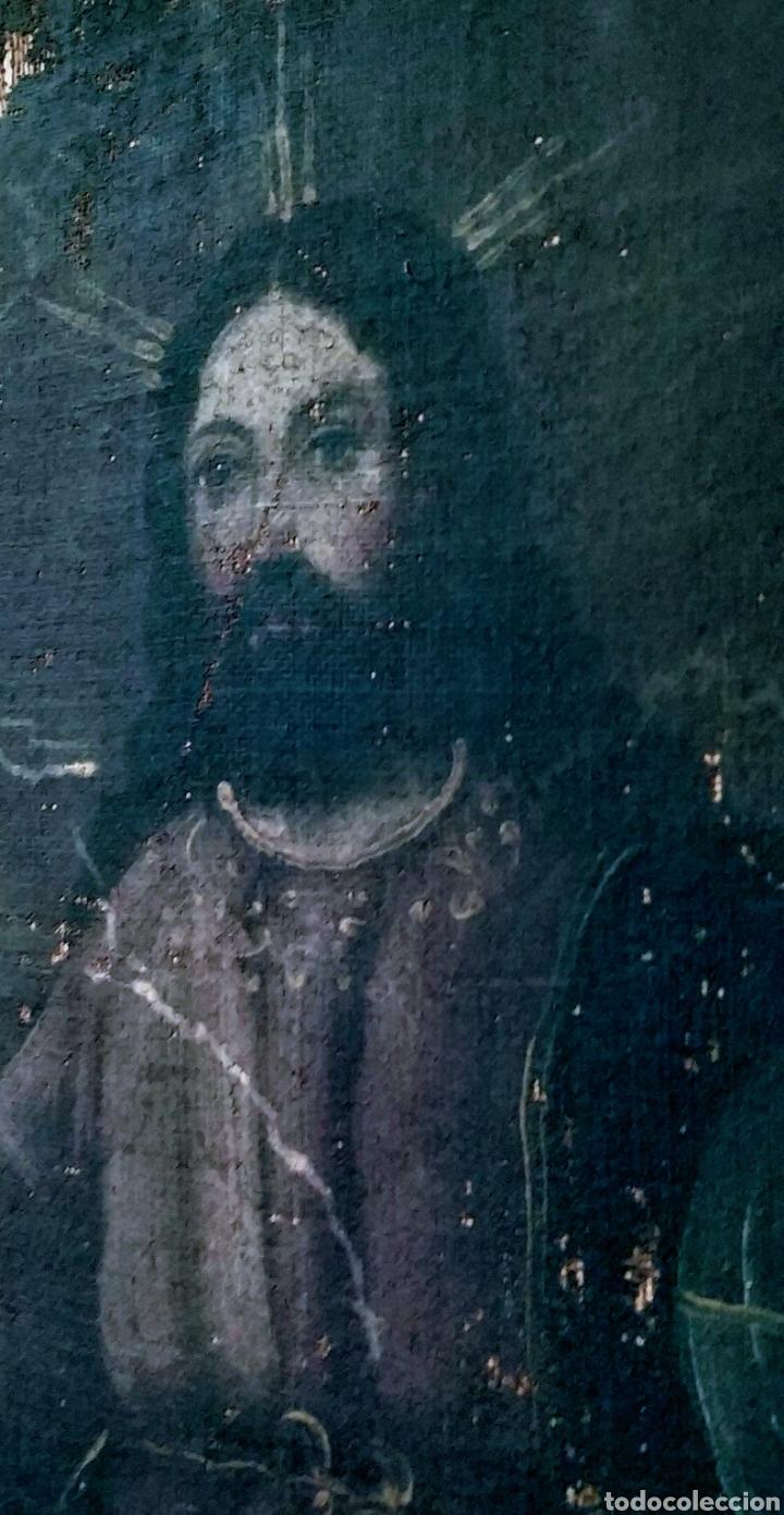 Arte: SALVATOR MUNDI CUADRO RETABLO DE GRAN TAMAÑO S. XV-XVII - Foto 21 - 181976396