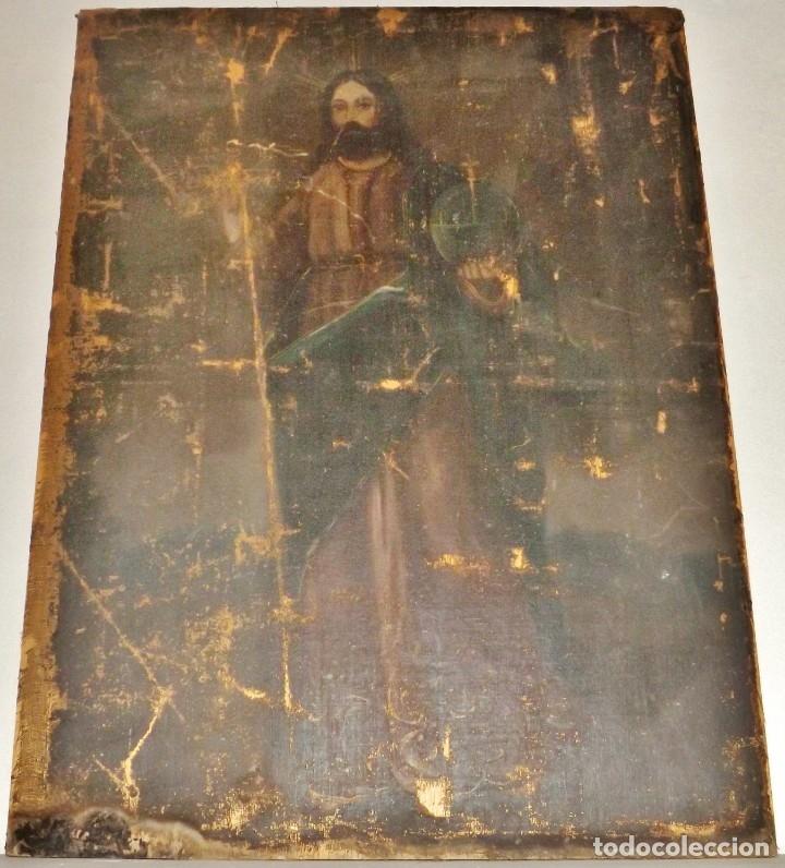 Arte: SALVATOR MUNDI CUADRO RETABLO DE GRAN TAMAÑO S. XV-XVII - Foto 2 - 181976396