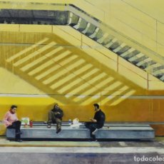 Arte: ALMUERZO . OLEO SOBRE MADERA CON BASTIDOR, 73X60CM, DE PEP ENCINAS. Lote 181996817