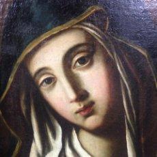 Arte: EXCEPCIONAL ÓLEO SOBRE LIENZO VIRGEN MARÍA ANTIGUO SIGLO XVIII. Lote 182008170