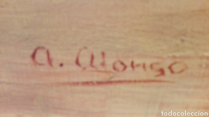 Arte: Pintura al oleo, paisaje, marco de madera, medidas 1,15x85. - Foto 2 - 182054188