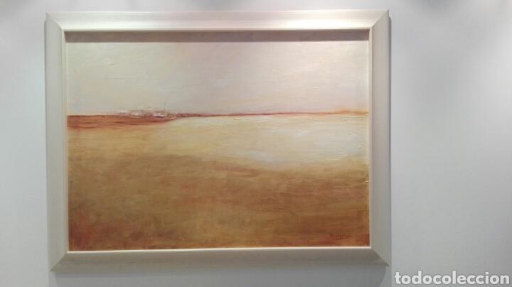 PINTURA AL OLEO, PAISAJE, MARCO DE MADERA, MEDIDAS 1,15X85. (Arte - Pintura - Pintura al Óleo Contemporánea )