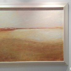 Arte: PINTURA AL OLEO, PAISAJE, MARCO DE MADERA, MEDIDAS 1,15X85.. Lote 182054188