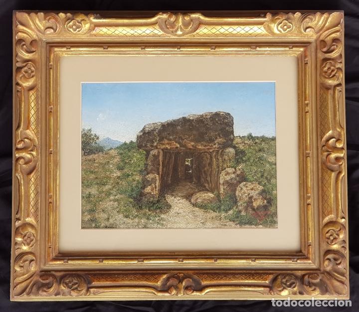 OLEO SOBRE TABLA DE ANTONIO PALOMO ANAYA ARTISTA MALAGUEÑO NACIDO EN COÍN MALAGA 1865-1941 COIN (Arte - Pintura - Pintura al Óleo Moderna siglo XIX)