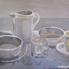 Arte: BODEGON SOBRE TABLA. Lote 182085502