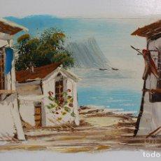 Arte: MARINA ORIGINAL FIRMADA OLEO-TABLE. Lote 182137016