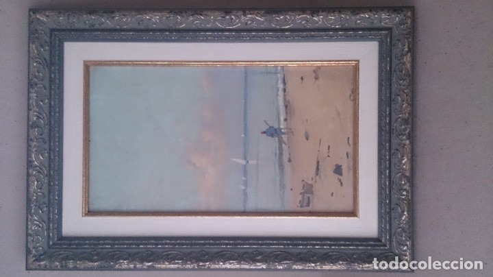 SEGUNDO MATILLA (ÓLEO SOBRE TABLEX)40X15CTMS FIRMADO (Arte - Pintura - Pintura al Óleo Moderna sin fecha definida)