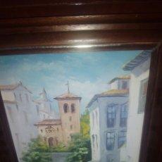 Arte: CUADRO OLEO SOBRE LIENZO, PINTOR GRANADINO ACUÑA. Lote 182224377