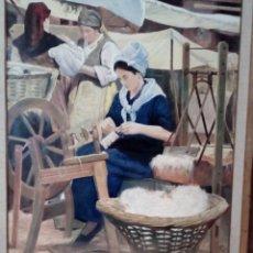 Arte: HILANDERAS (PINTURA COSTUMBRISTA) . Lote 182255771