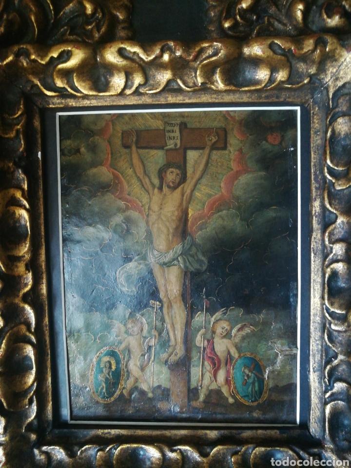 Arte: Óleo sobre cobre. Escuela Colonial del XVII - Foto 4 - 182256735