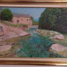 Arte: OLEO ENMARCADO SANT JOAN D'ISIL PIRINEO LERIDA FIRMADO PAUL HIRSH 85 X 65 CM (APROX). Lote 182260607