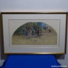 Arte: ÓLEO SOBRE SEDA ANONIMO.ATRIBUIDO A JOSÉ ECHENAGUSIA ERRAZQUIN(FUENTERRABIA1844-ROMA 1912).ECHENA.. Lote 182329288