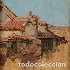 Arte: JOAQUÍN SOROLLA Y BASTIDA ÓLEO SOBRE TABLA TEJADOS DE MADRID CATÁLOGO RAZONADO. Lote 182359311