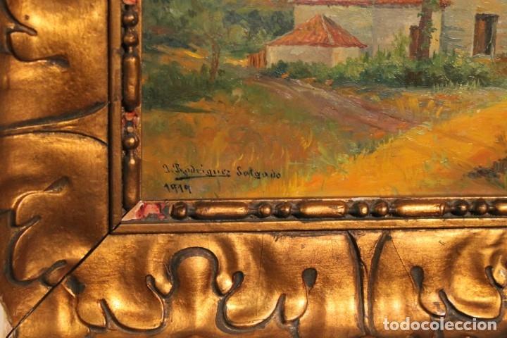 Arte: PAISAJE DE J. RODRIGUEZ SALGADO 1919, - Foto 2 - 182376810