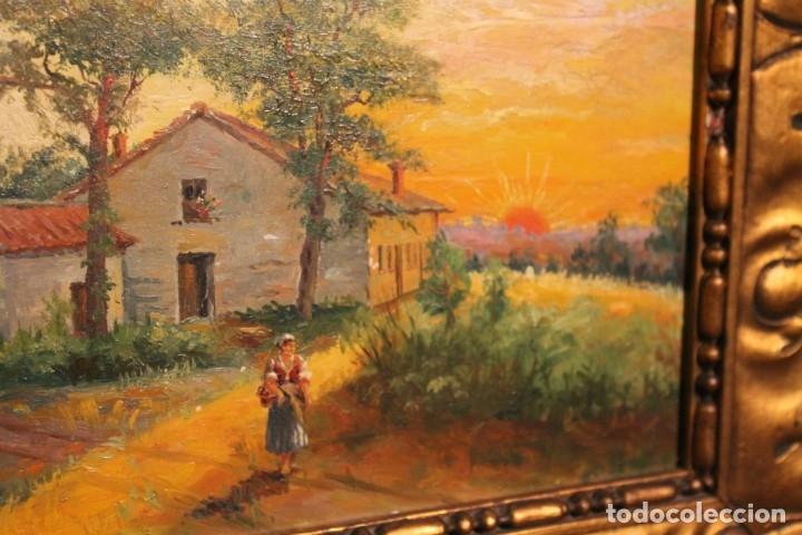 Arte: PAISAJE DE J. RODRIGUEZ SALGADO 1919, - Foto 4 - 182376810