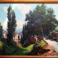 Arte: JOSEP VENTOSA DOMÈNECH (BCN 1897-PORT D'ANDRATX) ÓLEO CON PAISAJE DE MONISTROL DE MONTSERRAT. Lote 182378873