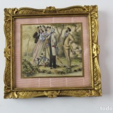 Arte: MINIATURA PINTADA A MANO, OLEO SOBRE PAPEL. . Lote 182380191