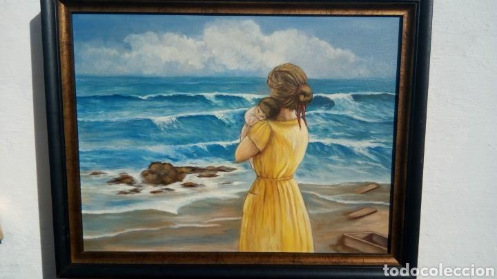CUADRO PINTADO AL ÓLEO (Arte - Pintura - Pintura al Óleo Moderna siglo XIX)