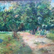 Arte: SALA Y FRANCÉS EMILIO (1850-1910). PINTOR ESPAÑOL. OLEO SOBRE TABLA.. Lote 182385073