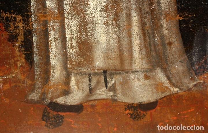 Arte: SAN VICENTE FERRER - OLEO TELA - SG XVIII - ESCUELA COLONIAL. - Foto 10 - 182327287
