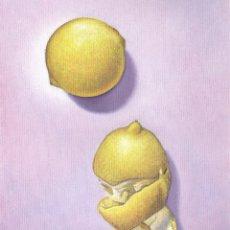 Arte: ÓLEO ORIGINAL SOBRE LIENZO. LIMONES O LA IMPUDICIA. AUTOR: MIGUEL ALFARO. Lote 182418867