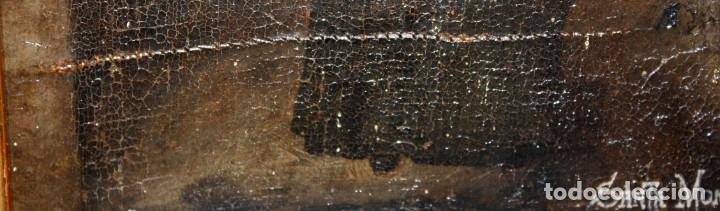 Arte: SANTA MONICA DE LIMA - 1685 - OLEO TELA. - Foto 5 - 182434556